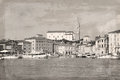 Slovenia old town piran antiqued photo Royalty Free Stock Images
