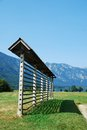Slovenian Hay Storage Structure Stock Images
