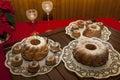 Slovenian Potica, Roll with wallnuts, almonds, rosins…