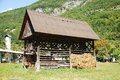 Slovenian Wood and Hay Storage Building Royalty Free Stock Photos