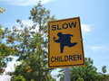 Slow Children at Play street sign Royalty Free Stock Photo