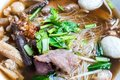 Slow cooked pork spare rib noodle vermicelli. Royalty Free Stock Photo