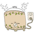 Slow Cooker Pot Royalty Free Stock Photo