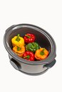 Slow cooker stuffed bell pepper in a ready to cook Royalty Free Stock Photo