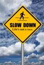 Slow down Royalty Free Stock Photo