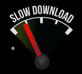 Slow download speedometer Royalty Free Stock Images