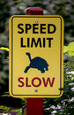 Slow speed limit sign Royalty Free Stock Photo