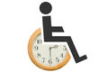 Disability Symbol With Clock