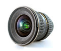 Slr camera lens ultra wide for on white background Stock Photography