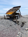 Sluice box to extract alluvial gold, West Coast NZ Royalty Free Stock Image