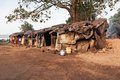 Slum house near the river goa india Stock Images