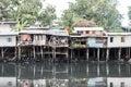 Slum houses at bangkok thailand Stock Image