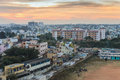 Slum resident zone of bangalore city india Royalty Free Stock Images