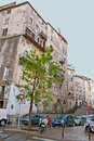 The slums bastia france may historical city centre is full of with crumbling plaster and peeling paint on may in bastia Stock Photos
