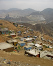 Slums, South America, Lima Stock Image