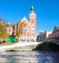 Slupsk landmarks of in autumn Royalty Free Stock Photos