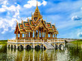Smäll pa i den kungliga slotten ayutthaya thailand Royaltyfri Foto