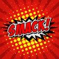 Smack comic speech bubble cartoon art and illustration vector file Royalty Free Stock Photos
