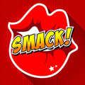 Smack comic speech bubble cartoon art and illustration vector file Stock Photos