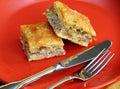 Smakelijke eigengemaakte pastei Stock Foto