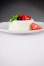 Smakliga panna cotta dessert Arkivfoton