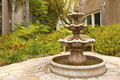 Smal backyard garden fountain san diego california small in a Stock Photos
