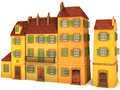 Small 3D houses Royalty Free Stock Image