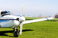 Small airplane on ground Royalty Free Stock Photo