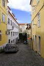 Small alley lisbon Royalty Free Stock Photography