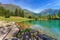 Small Alpine Lake Among Mounta...