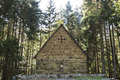 Small ancient church in a forest, Georgia Royalty Free Stock Photo