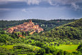 Small ancient city in Tuscany Royalty Free Stock Photography