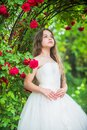 Small angel for bride. cute lady. happy childhood. beauty and fashion. pretty kid smell rose flower. spring and summer