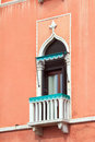 Small balcony in venice italy Stock Image