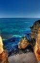 Small beach near Dona Ana beach. Royalty Free Stock Photo
