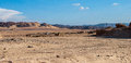 Small bedouin village in the desert with mountains, Sinai Royalty Free Stock Photo