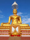 Small and big  golden Buddha Royalty Free Stock Photo