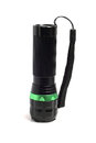 Small black flashlight Royalty Free Stock Photo