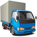 Small blue truck Royalty Free Stock Photo