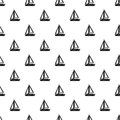 Small boat pattern, simple style