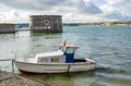 Small Boat in Pembroke Harbour Royalty Free Stock Photo