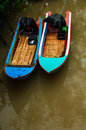 Small boat in river thailand Royalty Free Stock Photos