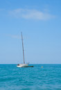 Small boat at sea. Royalty Free Stock Image