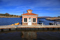 Small boating dock Stock Images