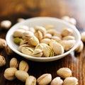 Small bowl of macadamia nuts Royalty Free Stock Photo