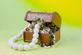 Small box with treasures Stock Photo