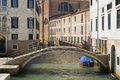 Small bridge in Sestiere Castello Stock Photo
