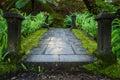 Small bridge in the Terra Nostra Garden Royalty Free Stock Photo