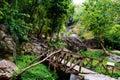 Small Bridge In Waterfall