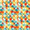 Small bright abstract circles seamless pattern illustration